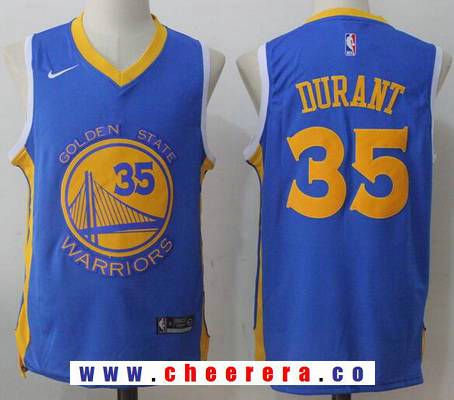 291722d3e0a Men s Golden State Warriors  35 Kevin Durant Royal Blue 2017-2018 Nike  Swingman Stitched NBA Jersey