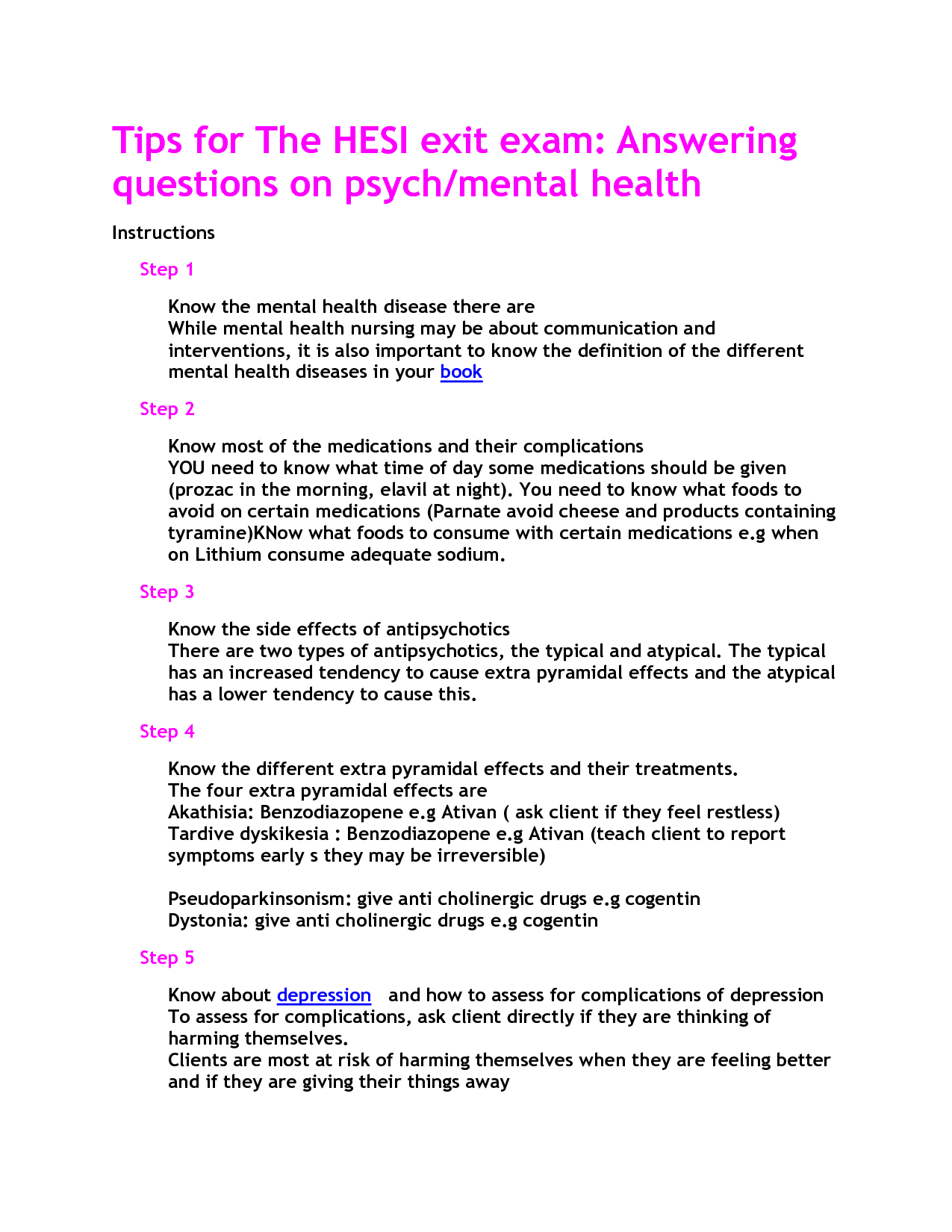 mental health hesi study guide | nursing | pinterest | mental health