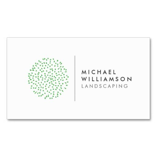 Modern Gardener Landscaping Logo on White Double-Sided Standard - landscaper resume