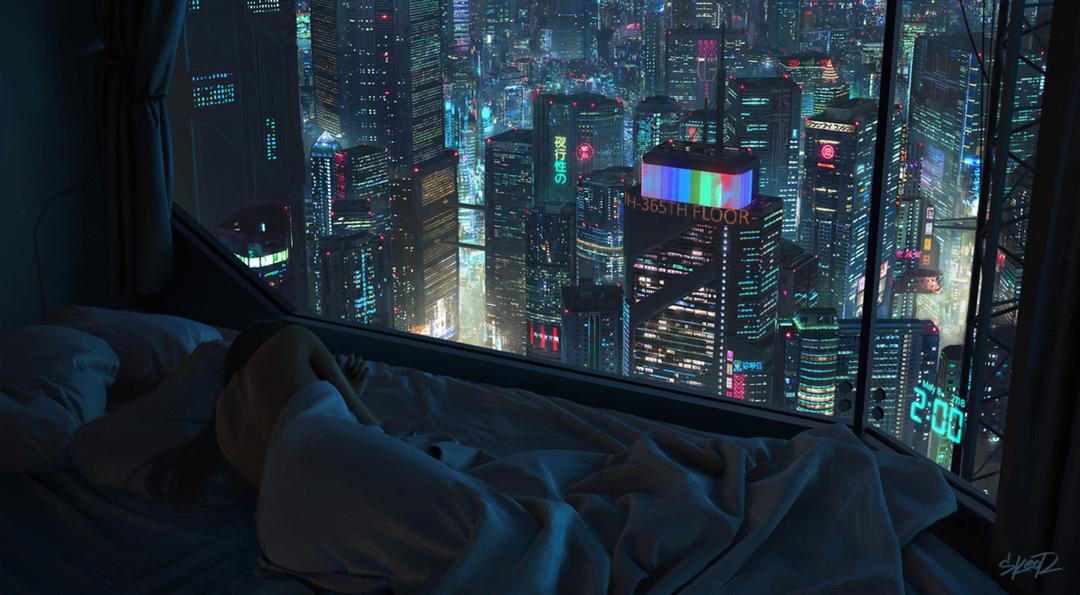 Best Bedroom With A View Credit Cyberpunk City Cyberpunk 400 x 300