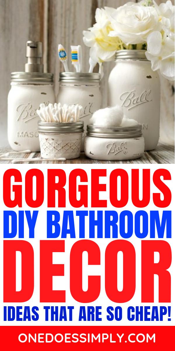 DIY Bathroom DECOR IDEAS images