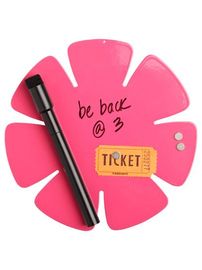 Poppy Magnetic Dry Erase Board: Girly Dorm Room Decorating: Style:  Teenvogue.