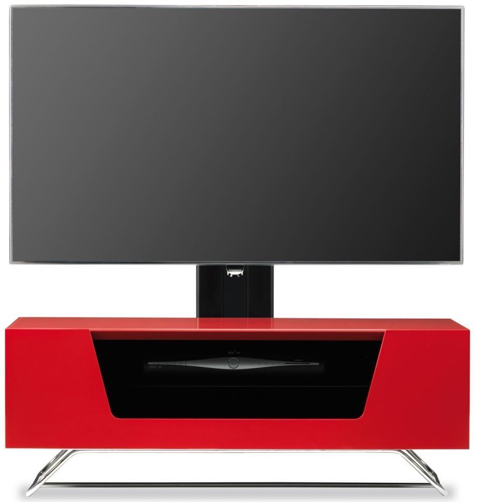 Genial Alphason Chromium 2 Red Cantilever TV Cabinet   CRO2 1000BKT RE