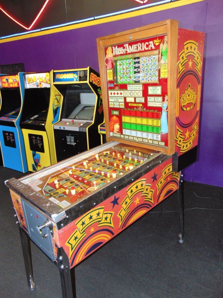 Up for sale is a Bally 1977 Miss America Bingo PINBALL