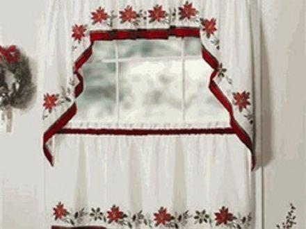 Free Crochet Flower Pattern Curtain Kitchen Valances For Windows