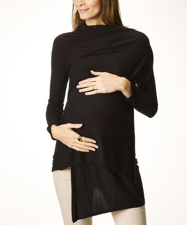 Take a look at this Black Open Cardigan by Rosie Pope Maternity on #zulily today!
