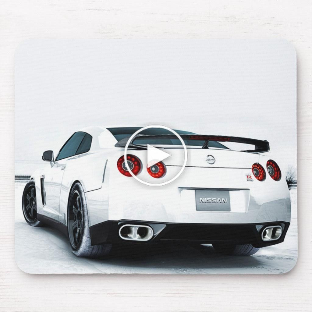 Nissan GT-R White Mouse Pad | Zazzle.com
