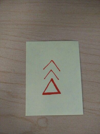 Delta With Kenaz Nordic Rune And Upwards Pointing Arrow Meaning