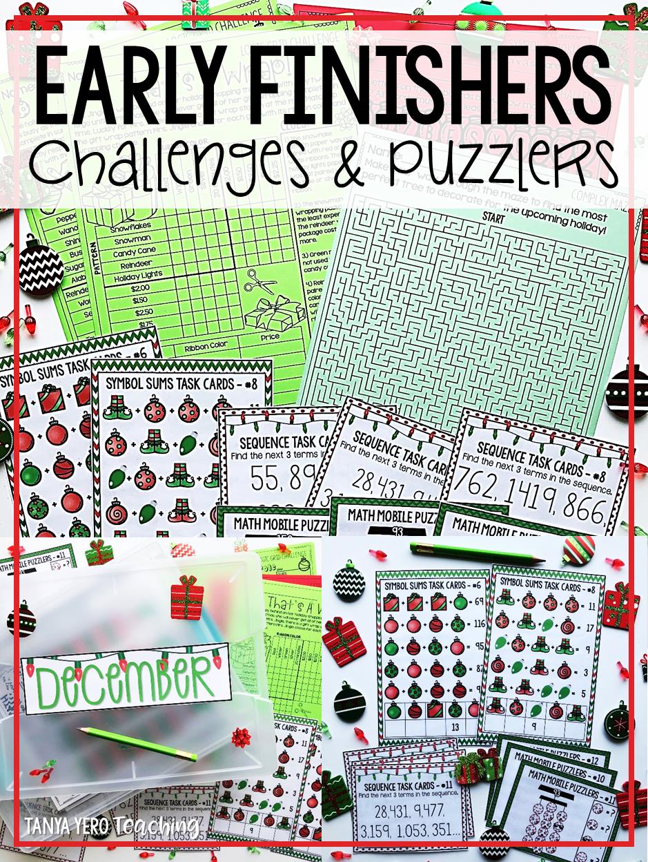 Christmas Activities December Math Early Finisher Activities Enrichment Christmas Math Worksheets Math Early Finishers Math Worksheets [ 1248 x 939 Pixel ]