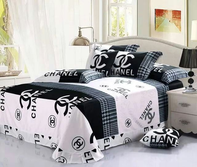 Black and white chanel bed set | *chanel* | Pinterest | Bed sets ...