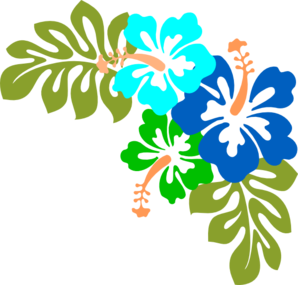 3 blue hibiscus clip art tropical pinterest blue hibiscus rh pinterest com au tropical flower clipart free