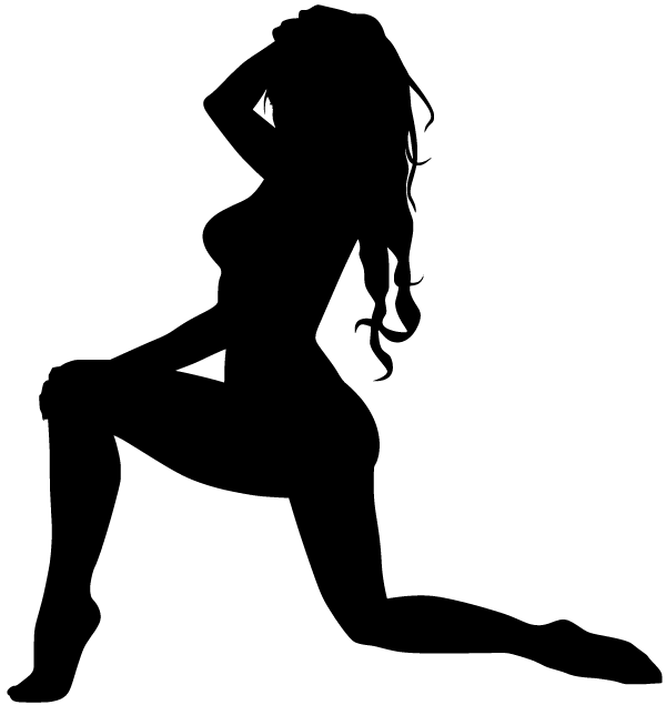 Vector Woman on One Knee Silhouette | Download Free Vector Art ...