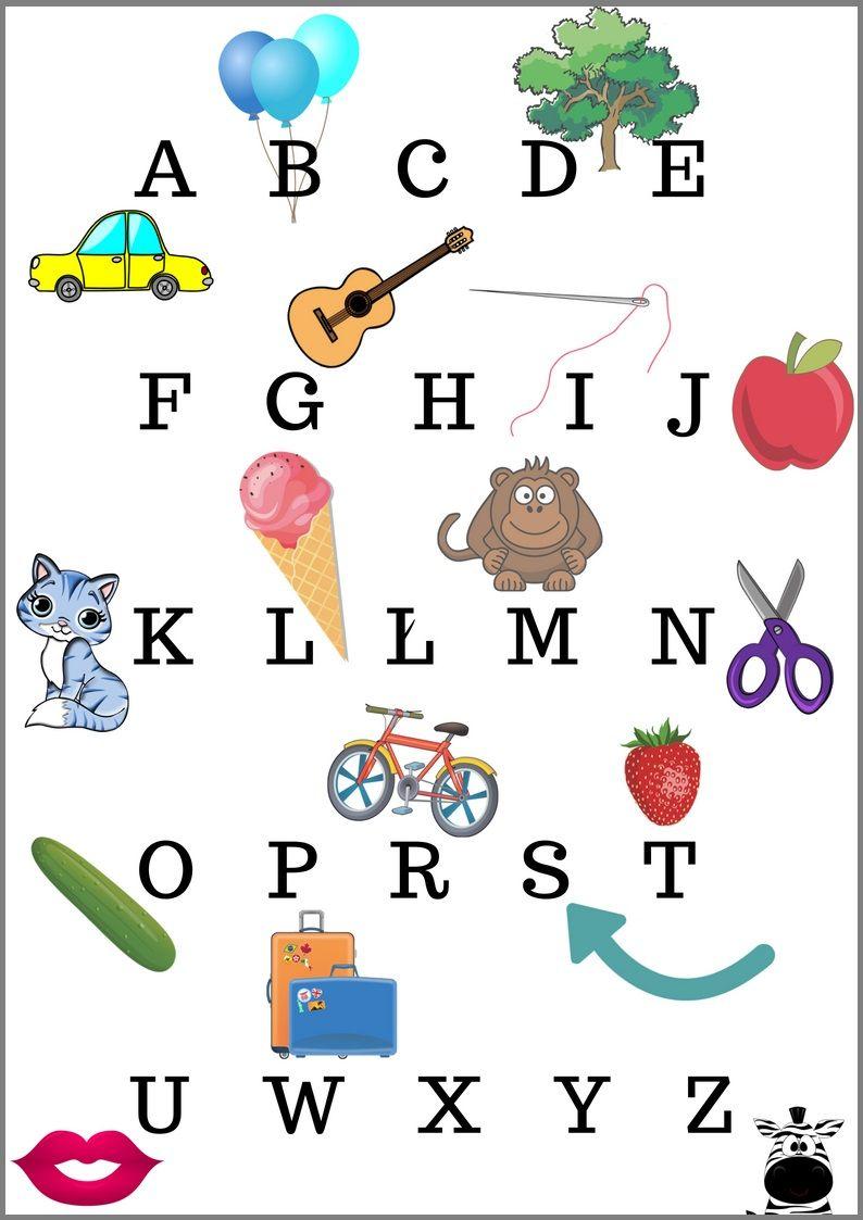 Alfabet Dla Dzieci Plakaty Do Druku W 4 Wersjach Plakat