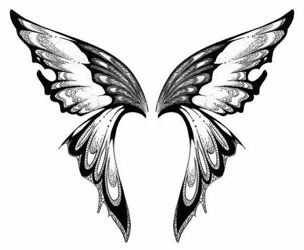 Photo of Kostenlose druckbare Fairy Schablonen | Schmetterling Tattoo Schablone 7 (Klicke…