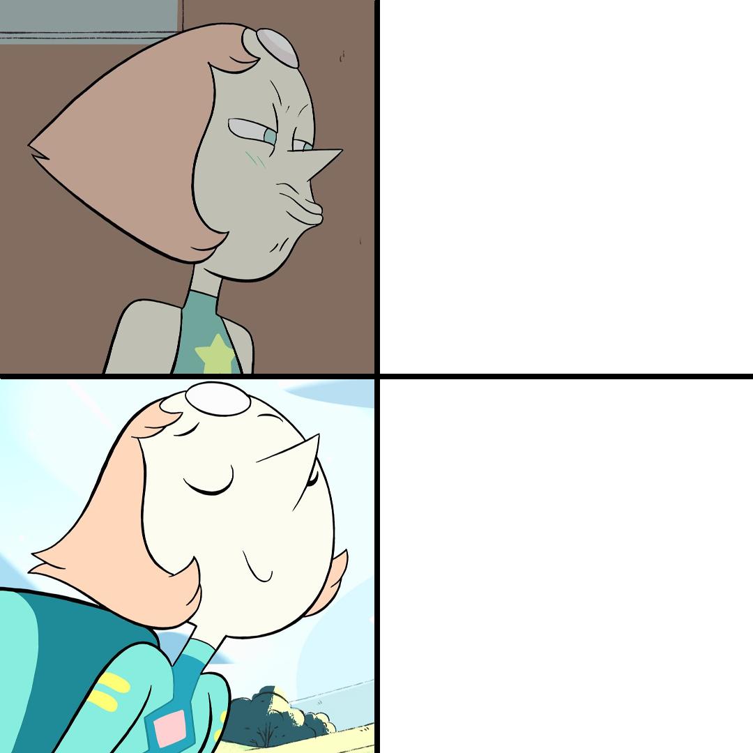 Pearl Drake Meme Template in 2020 Steven universe, Drake