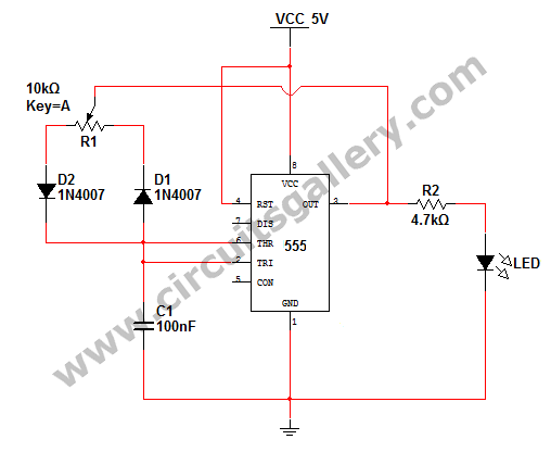555 pwm led dimmer circuit diagram electronics pwm led dimmer helligkeitsregelung von 555 timer mit video simulation schaltkreise galerie