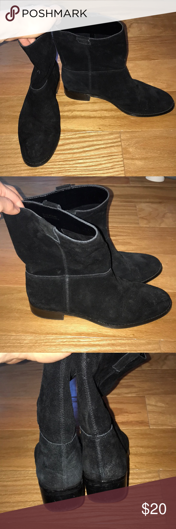 e5bfc8b494d J. Crew black suede ankle boots size 7 Excellent condition genuine black  suede mole boots