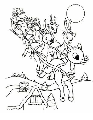 The best free Rudolph coloring page images. Download from ...