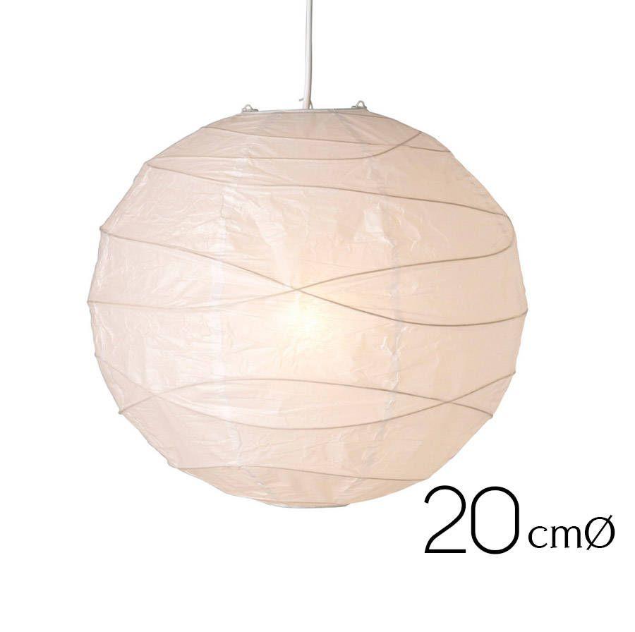 10 pcs Japanese Round Paper Lanterns (20cm) - White Lanterns ...