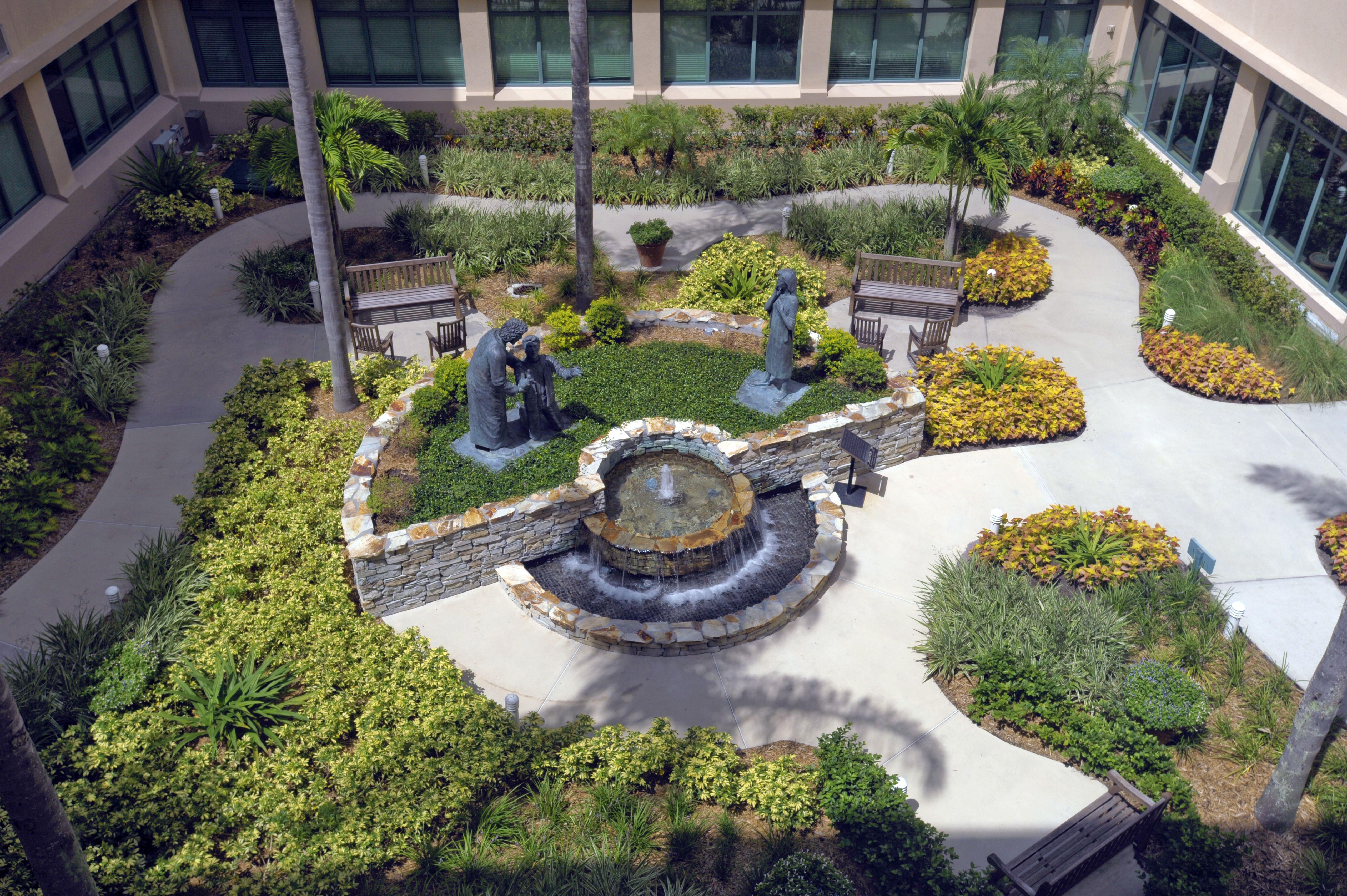 healing garden at celebration health healing gardens