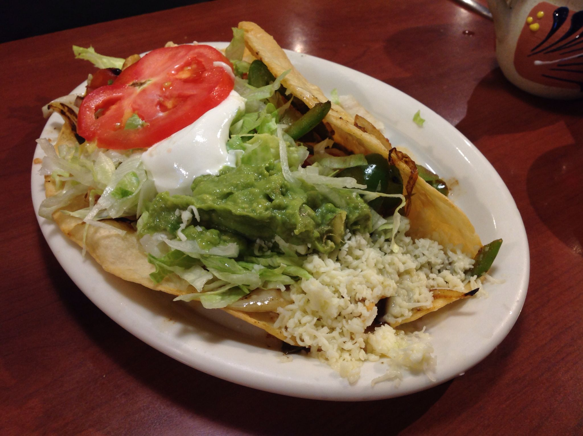 wow--!! huge delicious chicken fajita taco at Cocina