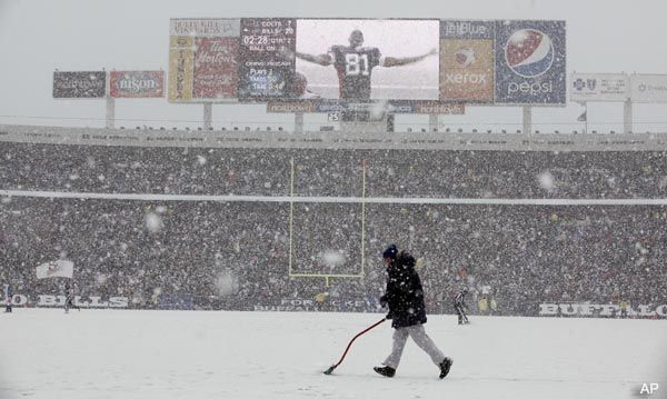 Buffalo tops the Weather Channel's list of worst NFL weather cities