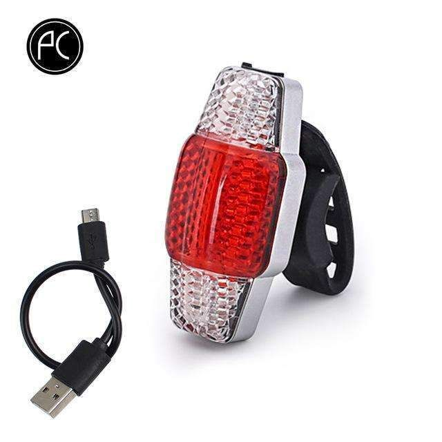COB LED Intelligent Bicycle Taillight Light Turn Brake Signal USB Rechargeable