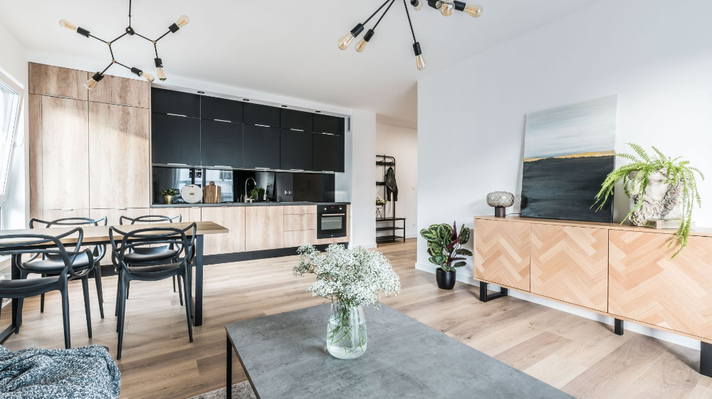 Nowoczesny Salon Z Kuchnia I Jadalnia Duzo Zdjec Home Decor Interior Home