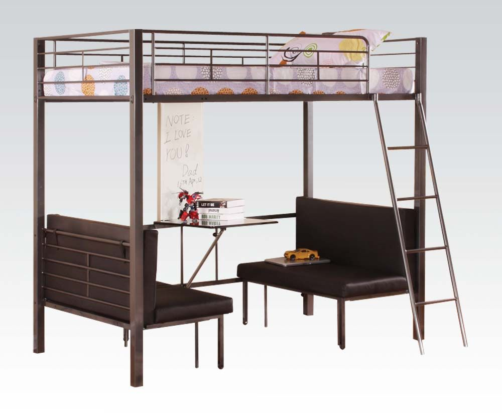 Loft bed with desk cheap  Bunk Beds with Futon and Desk  Best Interior House Paint Check more