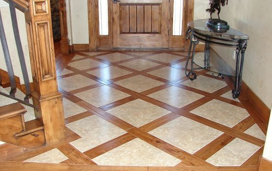 Hardwood Floor With Tile This Would Be A Great Way To Reuse Flooring When We Expand Our Kitchen Into The Dining Room