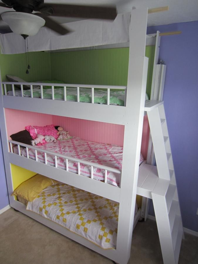 Custom Made Triple Bunk Beds Diy Bunk Bed Kid Beds Bunk Bed