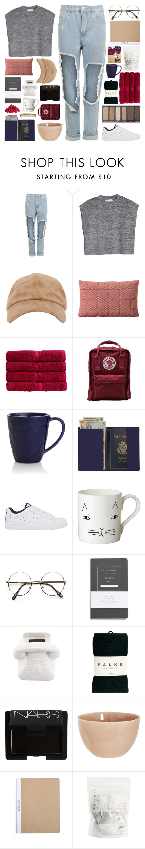 """demystify"" by randomn3ss ❤ liked on Polyvore featuring WearAll, MANGO, Muuto, Christy, Fjällräven, Crate and Barrel, Royce Leather, NIKE, Donna Wilson and Madewell"
