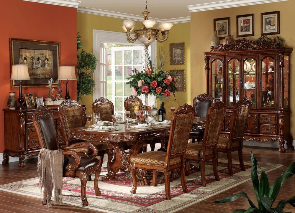 Us $193500 New In Home & Garden Furniture Dining Sets  Dining Fair 9 Pcs Dining Room Set Decorating Design