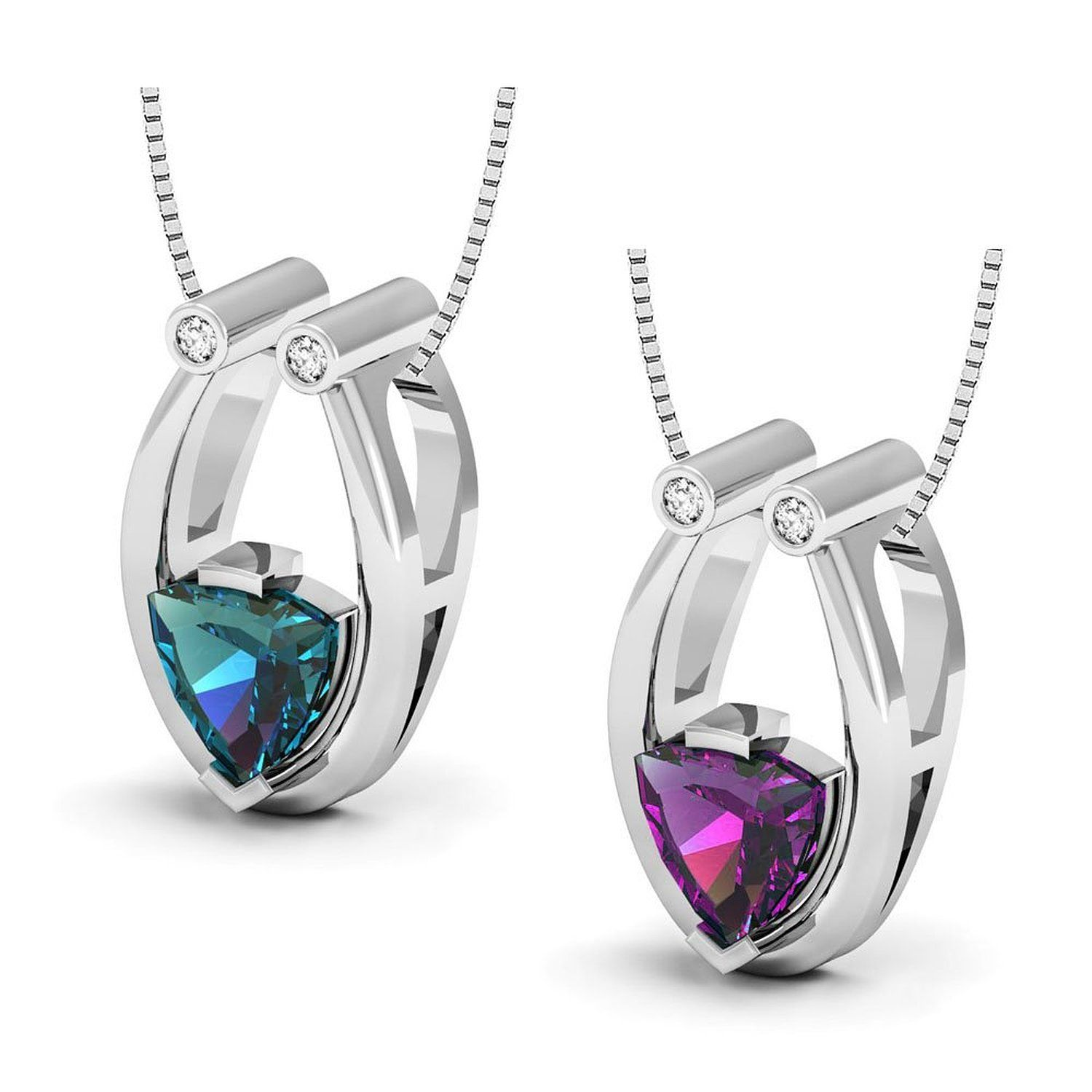 pendant necklace com mm necklaces dp jewelry amazon simulated heart alexandrite shape