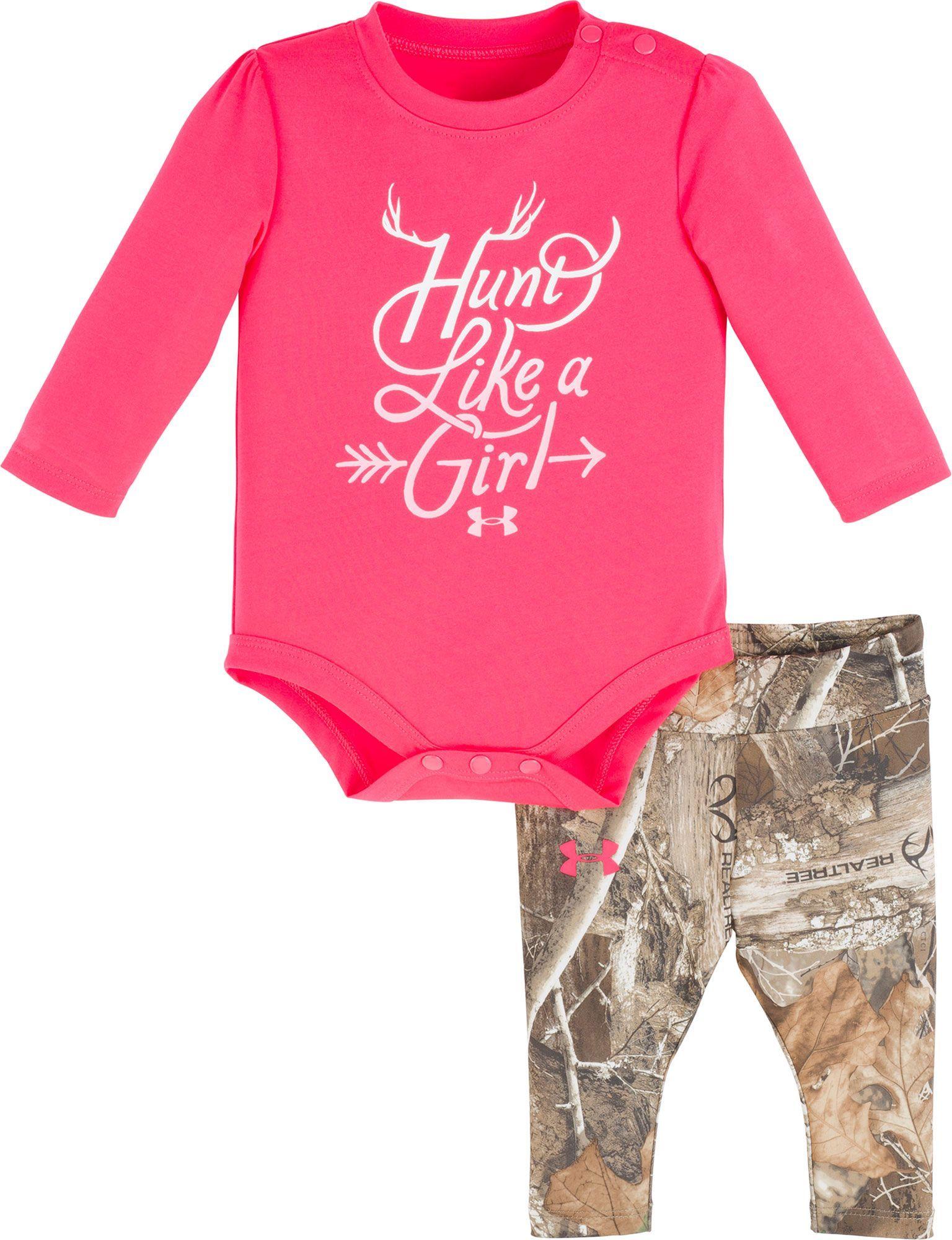 Under Armour Newborn Girls Hunt Like A Girl Long Sleeve