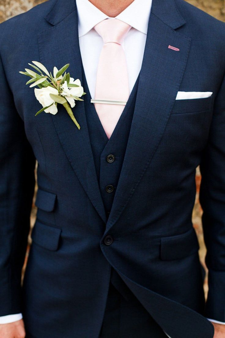Wedding ideas by colour navy and blush wedding theme groom style
