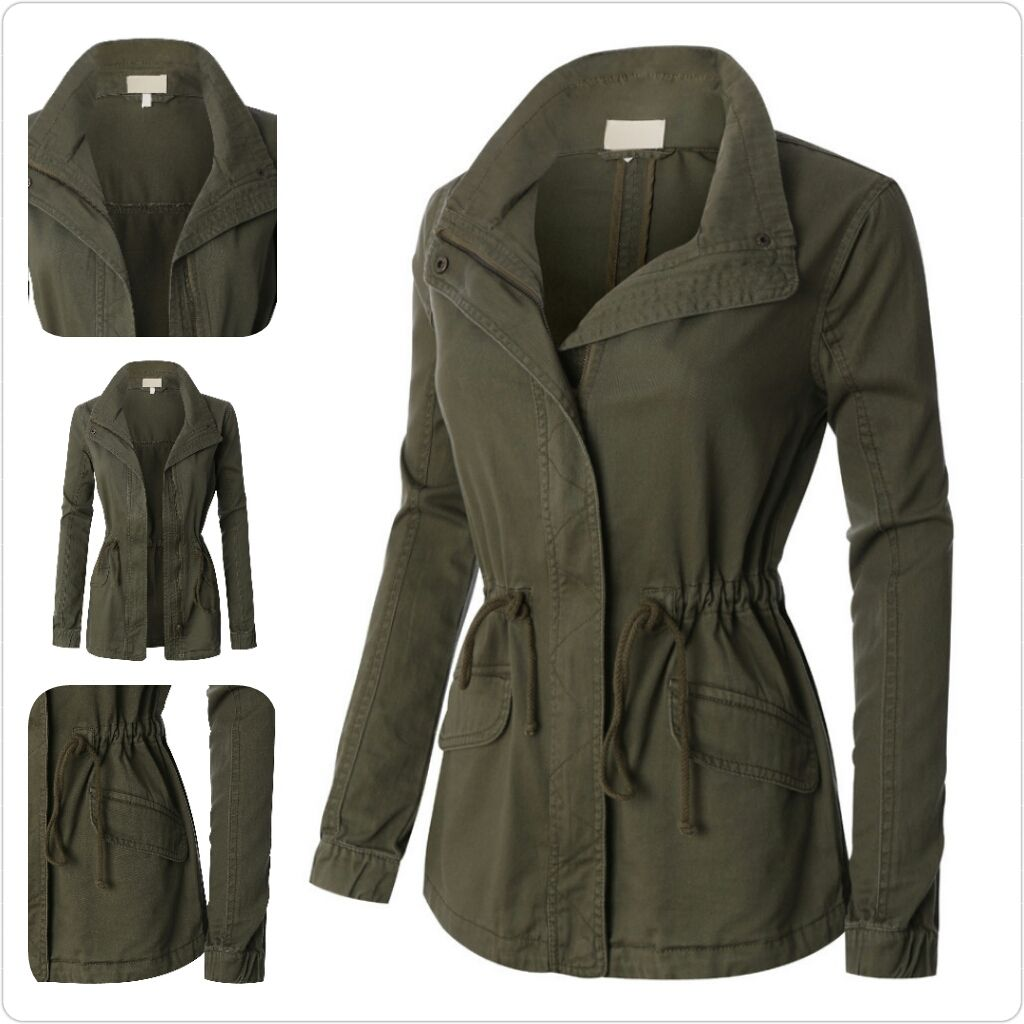 how to add a drawstring waist to a jacket