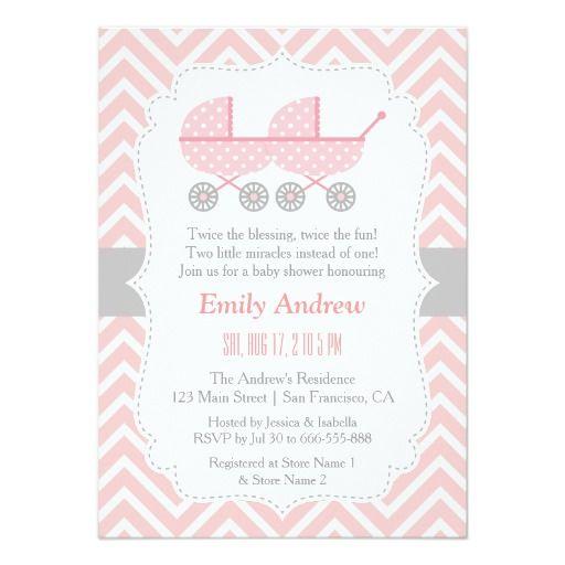Strollers twin girl baby shower invitations twin girls and shower strollers twin girl baby shower invitations filmwisefo