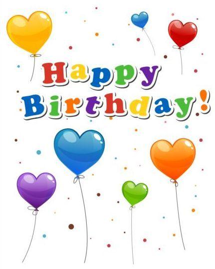 Happy birthday sticker with balloon vector 02