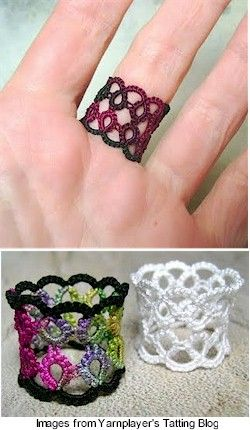 remembrance ring - tatting! I don't know how to tat but I think it's due time for me to learn. I love this ring!!