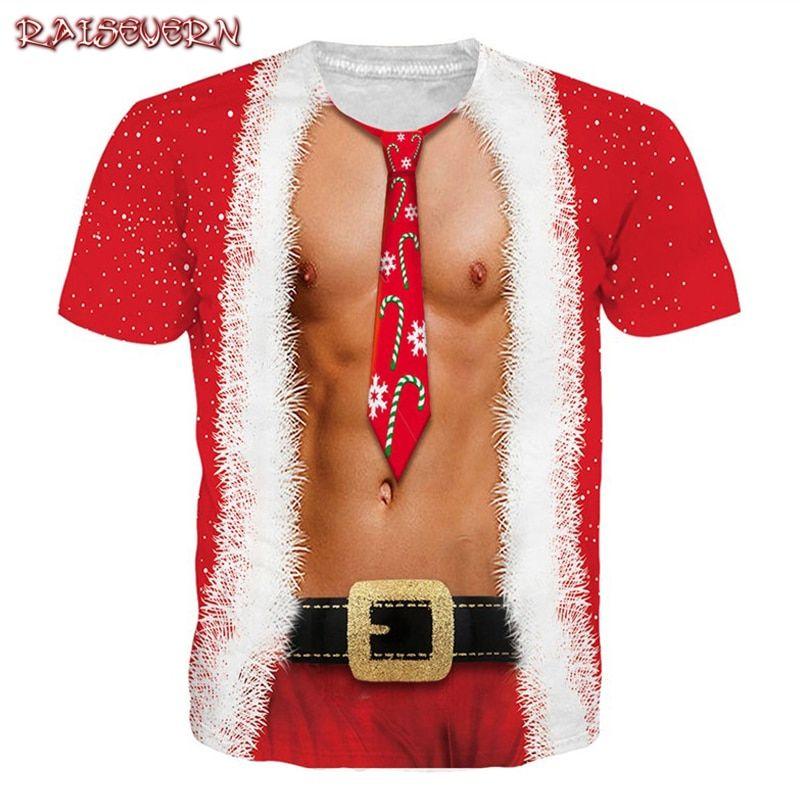 78c41ff4b7 2019 Funny Christmas T Shirt Women/men 3d Harajuku T Shirt Camisa Masculina  Christmas Gift Tee Tops