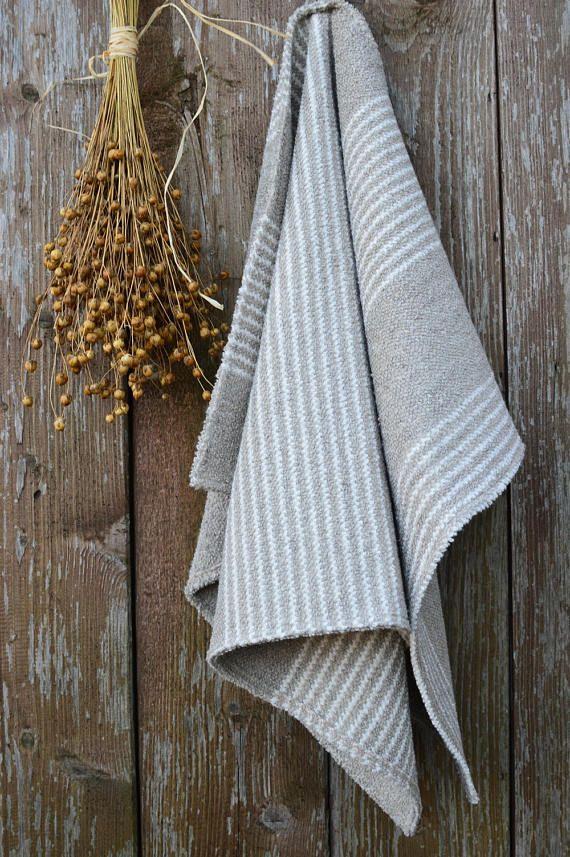 Striped Linen Towels Cotton Towel Guest Towels Bathroom