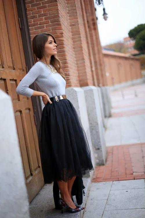 Looks Street: Falda Midi
