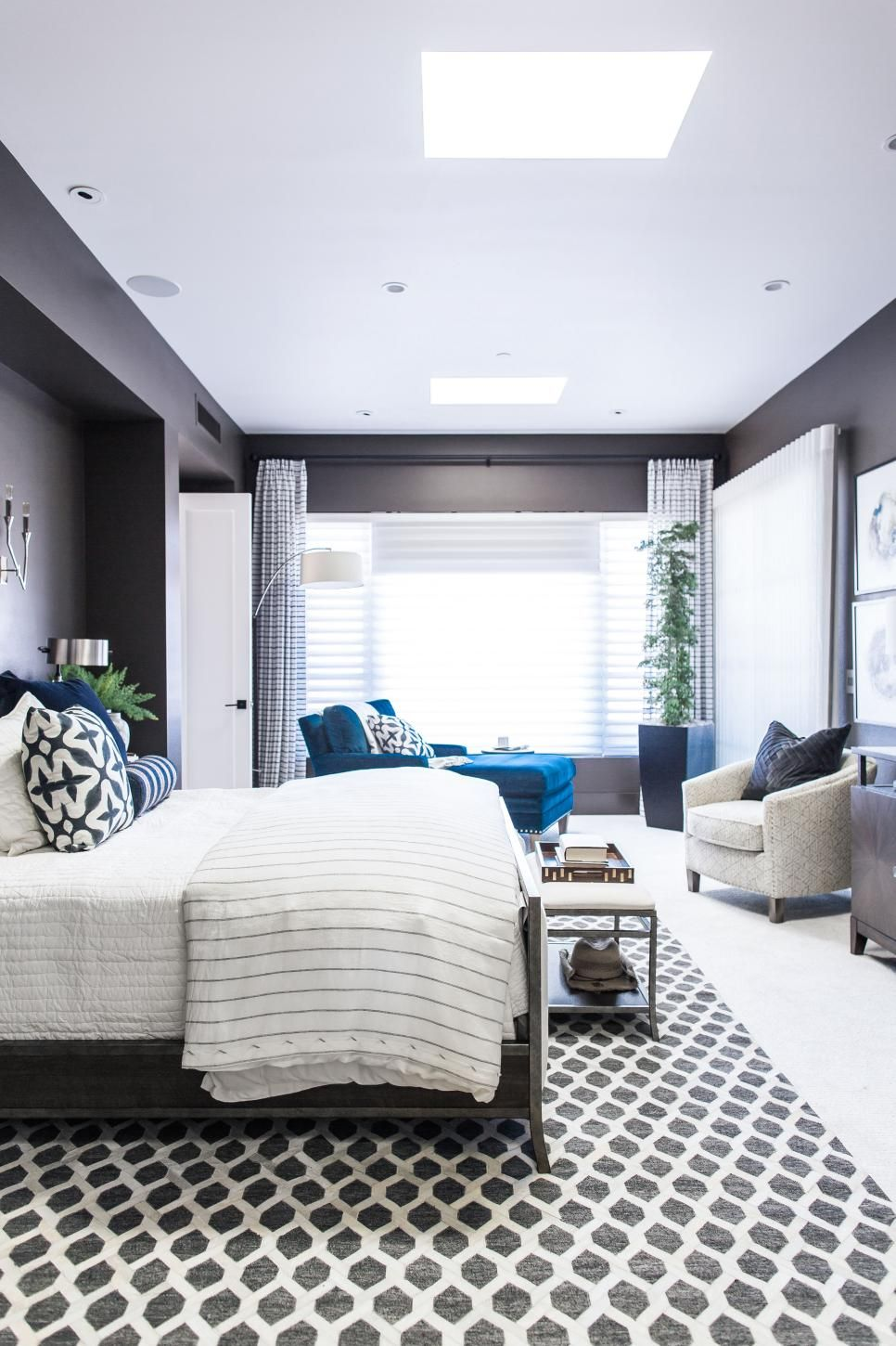 Master bedroom feature wall  Pictures of the HGTV Smart Home  Master Bedroom  Charcoal color