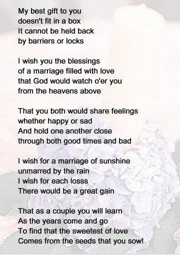 Bridal Shower Poems Lace Burlap Wedding In 2019 Wedding Poems