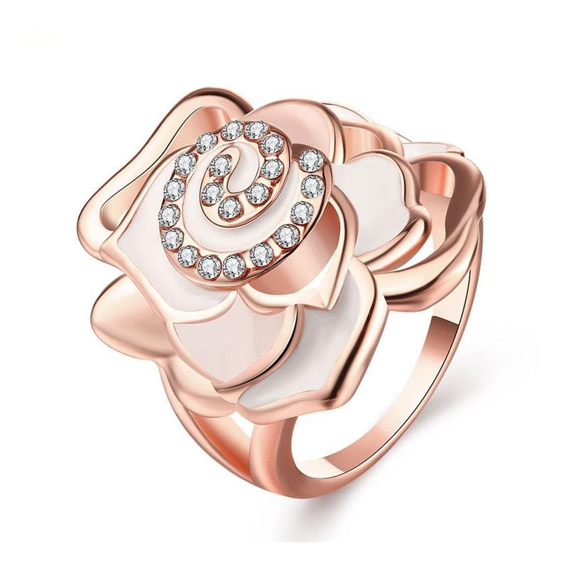Click to Buy Stylish Costume Jewelry Elegant Lady Ring Rose Gold