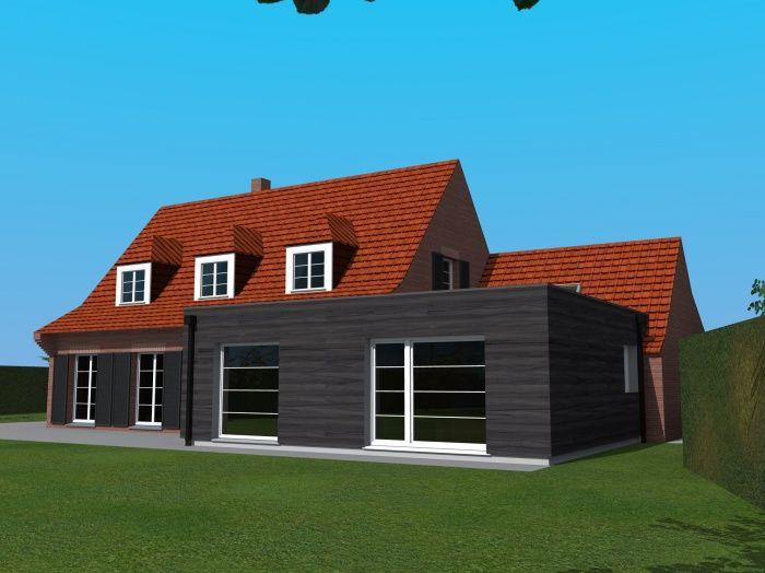 double-extension-bois-maison Agrandissement Pinterest - extension de maison en bois prix au m2