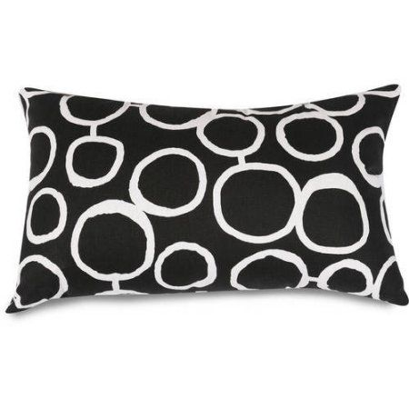 Majestic Home Goods Fusion Small Decorative Pillow, 12 inch x 20 inch, Black