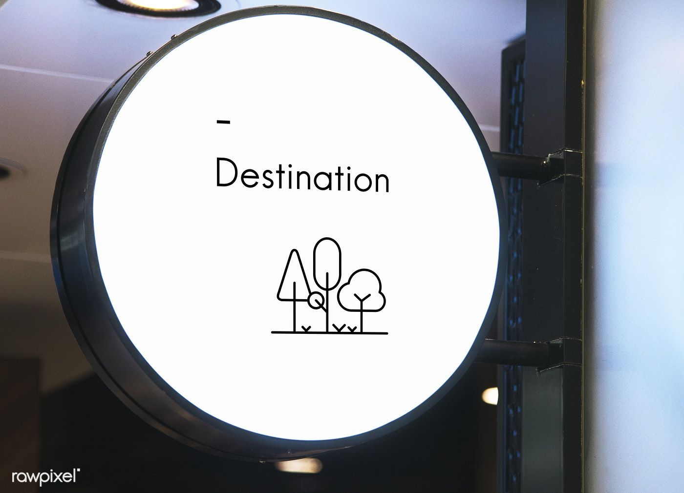 Download Download Premium Psd Of Blank Minimal Circular Shop Signboard Mockup 534761 Hiasan Dinding Kedai Kopi