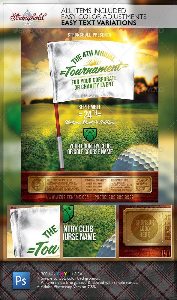 golf outing templates